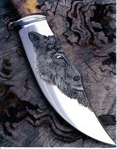 Custom Knife Engraving. Very cool =)