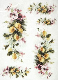 Rice Paper for Decoupage Decopatch Scrapbook Craft Sheet Vintage Lemon Tree