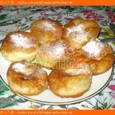 Babičkine šišky - Sefkuchari.sk Pretzel Bites, Baked Potato, Hamburger, Muffin, Bread, Baking, Breakfast, Ethnic Recipes, Anna