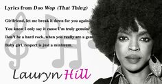 Lyrics from Doo Wop (That Thing) by Lauryn Hill