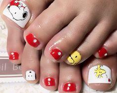 Nail Art - Beetle Nail :  フットネイル  #Snoopy #スヌーピー  #Beetlenail #Beetle近江八幡 #ビートルネイル #ビートル近江八幡