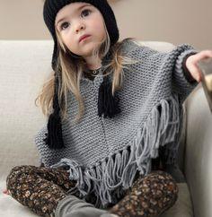 Modèle poncho à franges fille - Modèles Gratuits Enfant - Phildar