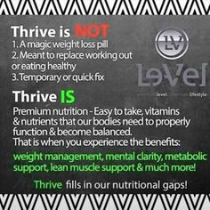 What is Thrive?                                                                                                                                                                                 More