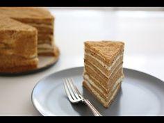 Russian Honey Cake recipe (Medovik) - YouTube