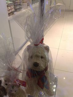 West Highland white terrier made out of chocolate.
