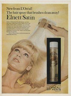 60s Elnett hairspray ad