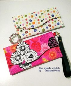 (9) Name: 'Sewing : Simple Clutch / Purse  Free Pattern
