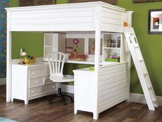 Twin Desk Loft Bed Idea