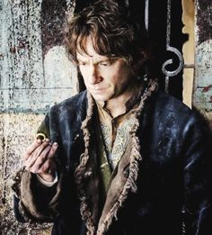 Still of Bilbo in The Hobbit: The Battle of The Five Armies.