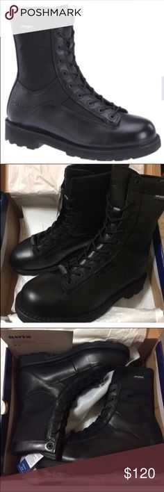 Leather Combat Boots New. Still in the box. Never worn.  Make a fair offer and theyre yours! Bates Shoes Boots
