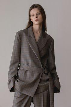 [AEER 아에르] Glen Check Wool Cashmere Jacket (Beige)