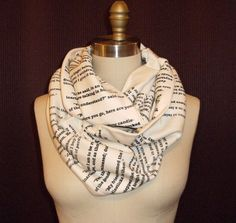 Les Miserables Book Scarf. $42.00, via Etsy.
