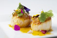 Scallops with Orange Ginger Sauce by karinemoniqui #Scallops