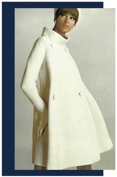 He was a genius - Pierre Cardin 1960s Fashion, Look Fashion, Vintage Fashion, Womens Fashion, Fashion Design, Fashion Trends, Gothic Fashion, Style Année 60, Looks Style