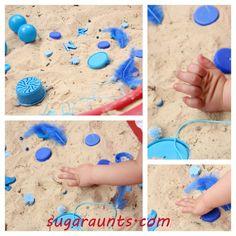 Sugar Aunts: Blue Sensory Play for Toddlers