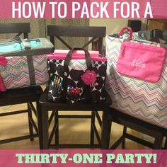 Thirty-One Thursday: How to Pack for a Party!