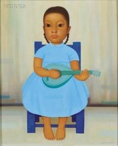 Girl with Guitar By Gustavo Montoya