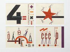 El Lissitzky Die vier Grundrechenarten - 12 Siebdrucke nach Originalaquarellen