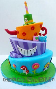 Alice in Wonderland Topsy Turvy Cake