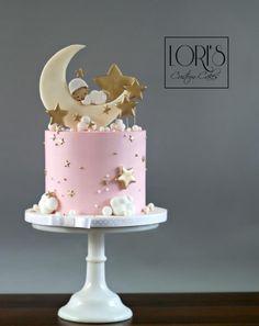 by Lori Mahoney (Lori& Custom Cakes) - Baby Shower , Twinkle Twinkle. by Lori Mahoney (Lori& Custom Cakes) Twinkle Twinkle. by Lori Mahoney (Lori& Custom Cakes) CAKE & DECOR Tortas Baby Shower Niña, Gateau Baby Shower, Baby Shower Cupcakes, Cupcakes Kids, Baby Girl Cakes, Baby Birthday Cakes, Cake Baby, Cakes For Girls, Girls Cake Ideas