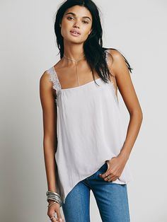 Free People Delicate Sides Trapeze Cami, $58.00