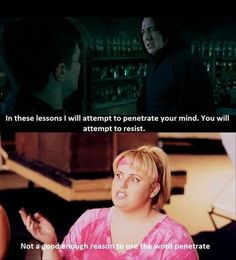 Bahaha. Harry Potter and Pitch Perfect...