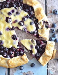 Blueberry cheesecake galette.  Top 10 Best Blueberries Recipes - Top Inspired