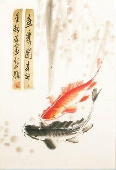 fa628438534 Image result for carp chinese brush painting Chinese Brush