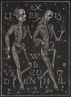 Ex Libris Mr. Reaper (2). Bookplate from the collection of Richard Sica