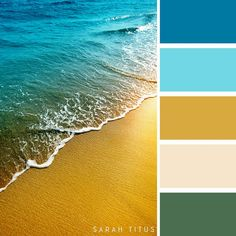 25 Summer Color Palettes (Sarah Titus ~ Saving Money Never Goes Out of Style) Ocean Color Palette, Summer Color Palettes, Ocean Colors, Colour Pallette, Summer Colors, Colour Schemes, Pastel Colors, Color Combos, Best Color Combinations