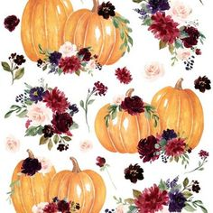 Add a pop of pattern with unique fabric, wallpaper & gift wrap. Shop over 850,000 designs Cute Fall Wallpaper, Fabric Wallpaper, Pumpkin Spice, Spoonflower, Gift Wrapping, Pop, Unique, Floral, Pattern
