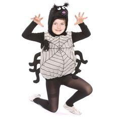 Spinnen-Kostüm für Kinder, die passende Verkleidung für Halloween oder zum Kinderfasching
