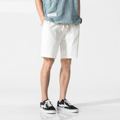 Sporting Sinicism Store Men Oversize Streetwear Harajuku Shorts 2019 Solid 6 Colors Mens Chinese Style Board Shorts Casual Knee Length Traveling Men's Clothing