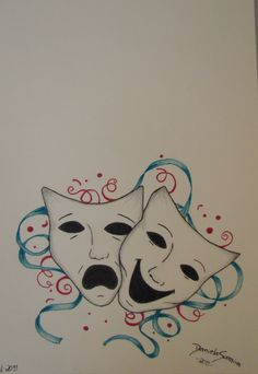 theater masks, by me