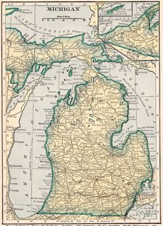 Vintage MISSISSIPPI US Map Original Print Neat - Original us map