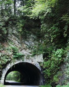 Mountain Tunnel - Cades Cove, TN  I know this tunnel well- I drove it often when I worked in Smoky Mountain National Park. Memories :)