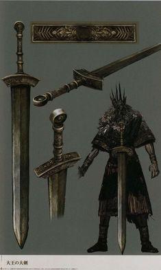Fextralife View topic - Dark Souls: Design Works Fantasy Sword, Fantasy Armor, Fantasy Weapons, Medieval Fantasy, Dark Fantasy Art, Game Concept Art, Weapon Concept Art, Dark Souls Art, Dark Blood