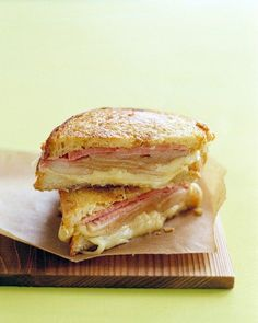 Grilled Ham and Cheese with Pears Recipe