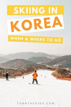 Check out this travel guide to South Korea in Winter! One of the best things to do in Korea is ski and here are the best ski resorts and destinations in the country near Seoul. Best things to do in Korea | Travel Korea | Guide to Seoul, Busan, Jeju Island | #koreatravel #southkorea #asiatravel #bucketlist #winter #seoulitinerary South Korea Travel, Asia Travel, Solo Travel, Seoul Itinerary, Korea Winter, Go Skiing, Skiing Colorado, Best Ski Resorts, Best Skis