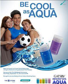BE COOL AND FRESH AS AQUA GATSBY DEODORANT AQUA Makati, Gatsby, Deodorant, Philippines, Aqua, Bring It On, Cool Stuff, Fresh, Water