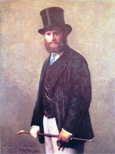 Portrait of Édouard Manet, by Henri Fantin-Latour, 1867