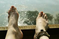 bare feet by the lake Barefoot, Smile, Cute, Kawaii, Laughing