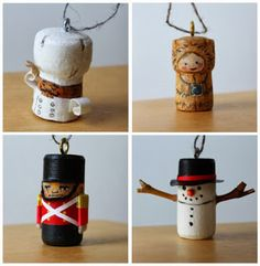 more cork Christmas tree decorations bottle crafts with pictures stuff we make out of junk, kids art + Lego Cork Christmas Trees, Beautiful Christmas Trees, Christmas Tree Decorations, Christmas Fun, Wine Craft, Wine Cork Crafts, Bottle Crafts, Wine Cork Ornaments, Christmas Tree Ornaments