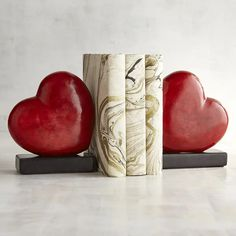 2hearts Bookends