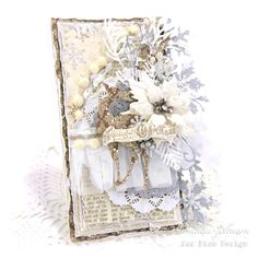 My Little Craft Things: Pion Design - A Peaceful Christmas Christmas Mix, Shabby Chic Christmas, Vintage Christmas Cards, Xmas Cards, Card Making Inspiration, Inspiration Cards, Mixed Media Cards, Vintage Paper, Vintage Tags