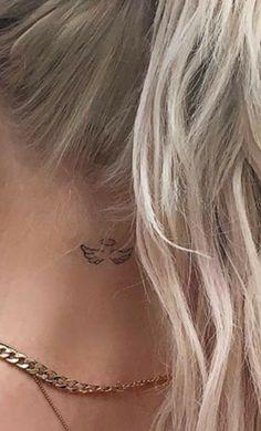 Simple Neck Tattoos, Neck Tattoos Women, Dainty Tattoos, Mini Tattoos, Unique Tattoos, Beautiful Tattoos, Body Art Tattoos, Tatoos, Artistic Tattoos