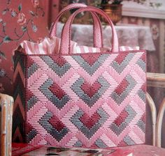 Discover thousands of images about Stunning Tote Desk Accessories Sweetheart Sachet Bears Plastic Canvas Patterns Broderie Bargello, Bargello Needlepoint, Needlepoint Stitches, Plastic Canvas Ornaments, Plastic Canvas Crafts, Plastic Canvas Stitches, Plastic Canvas Patterns, Canvas Purse, Canvas Tote Bags