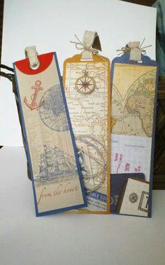 Echte starke Lesezeichen - super Idee für ausgediente Schul-Atlanten!