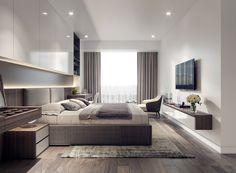 Luxury apartments are offering outrageous amenities to attract tenants . Modern Luxury Bedroom, Modern Master Bedroom, Modern Bedroom Design, Master Bedroom Design, Luxurious Bedrooms, Bed Design, Apartment Interior Design, Room Interior, Interior Design Living Room