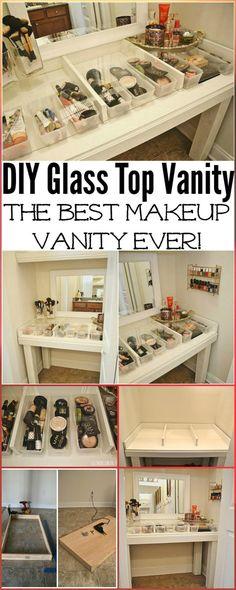 20+ DIY Makeup Vanity Tutorials - DIY Your own Makeup Vanity Table